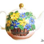Ceainic flori de camp - portelan Luka