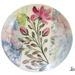 Farfurie rotunda cu magnolie portelan Luka
