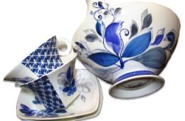 Set ceainic albastru